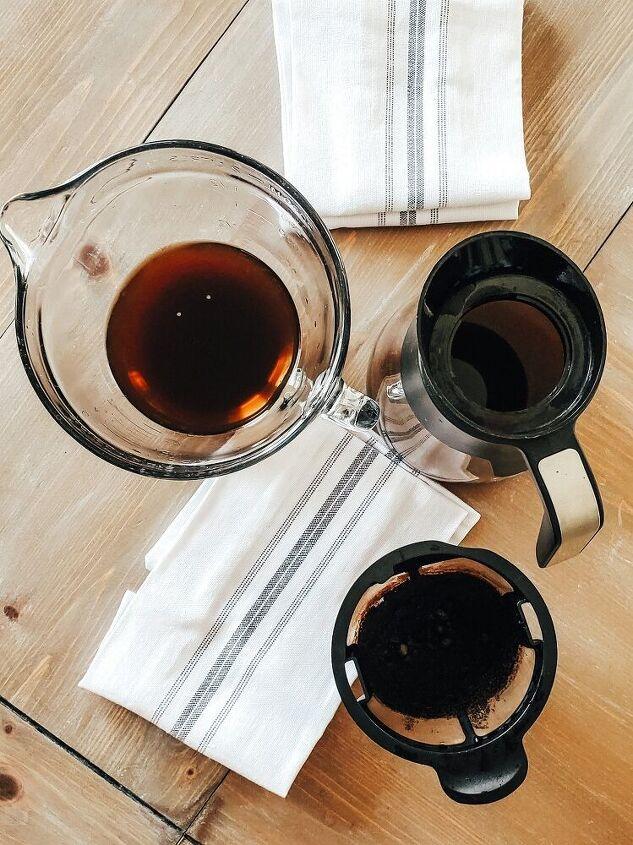 how to create aged farmhouse tea towels using coffee