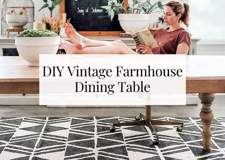 diy vintage farmhouse dining table arhaus copycat 804 sycamore