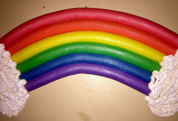 pool noodle rainbow, Using the noodles as is after cutting