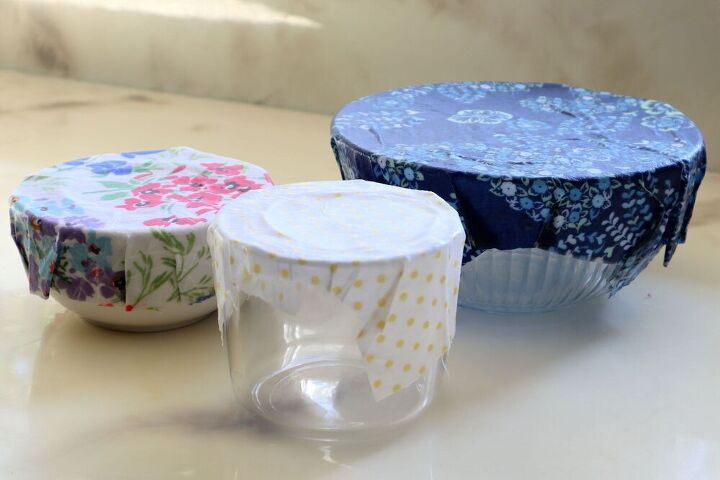 beeswax bowl covers and food wraps for a zero waste kitchen