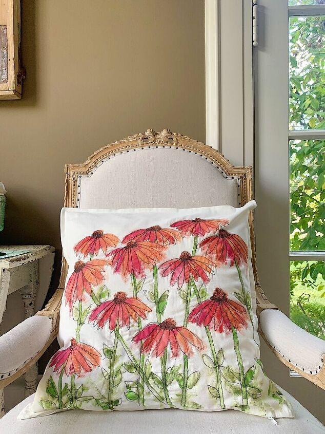 a new summer flower pillow