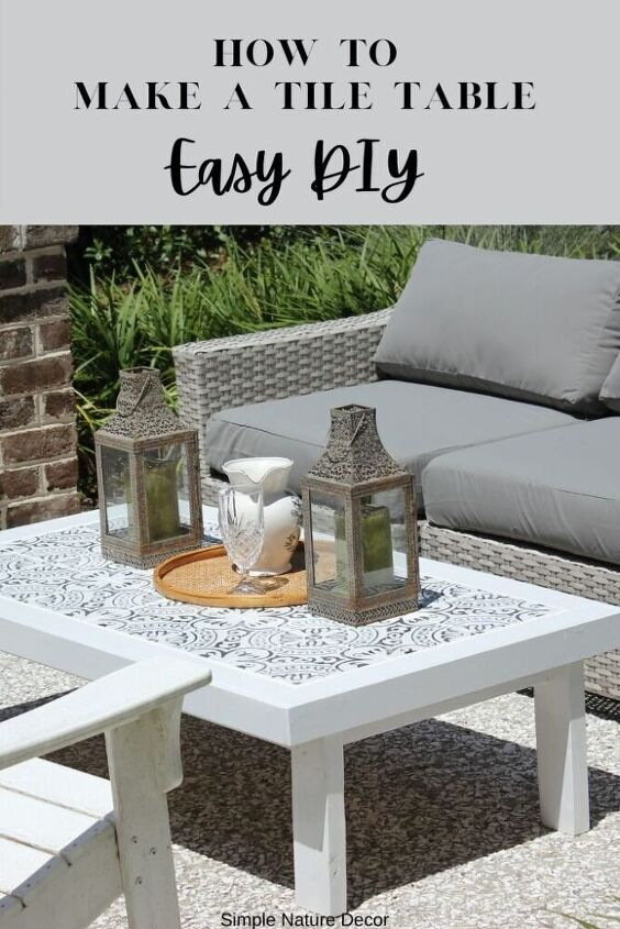 how to make an outdoor tile coffee table