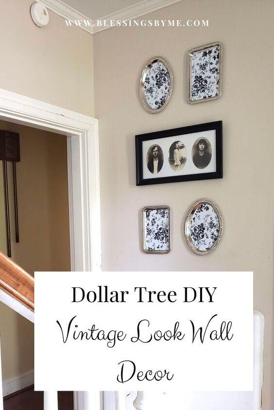 faux vintage wall decor dollar tree diy