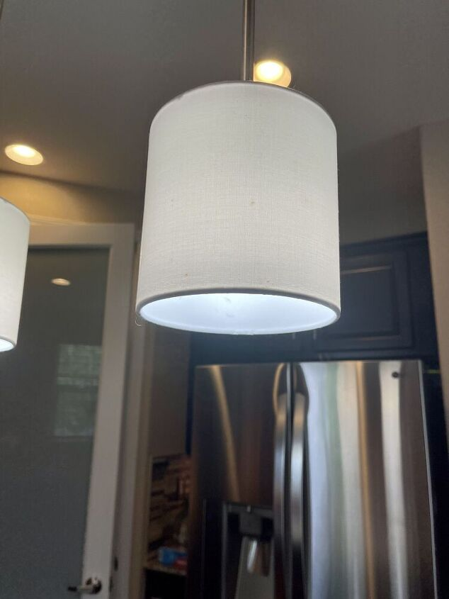 cover a dropdown lampshade with handmade mulberry paper