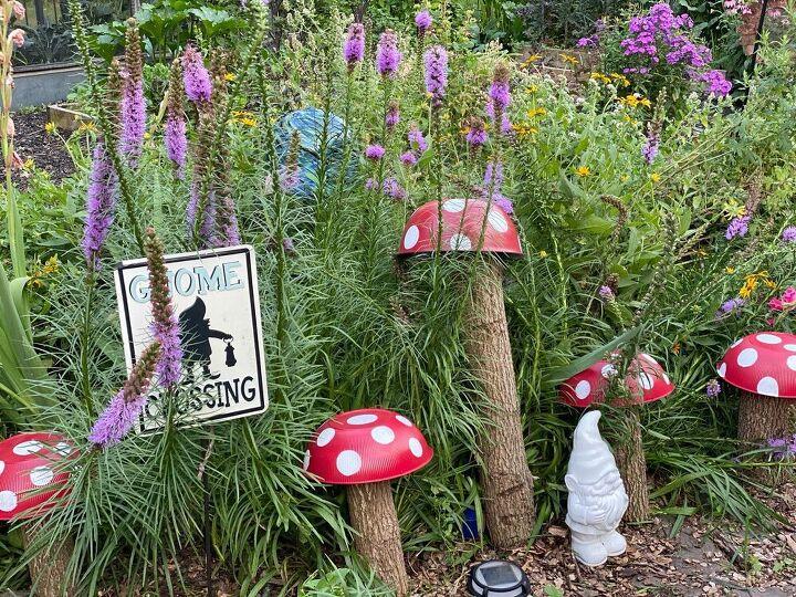 recycled garden mushrooms