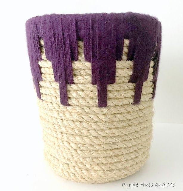 diy coiled rope motif basket