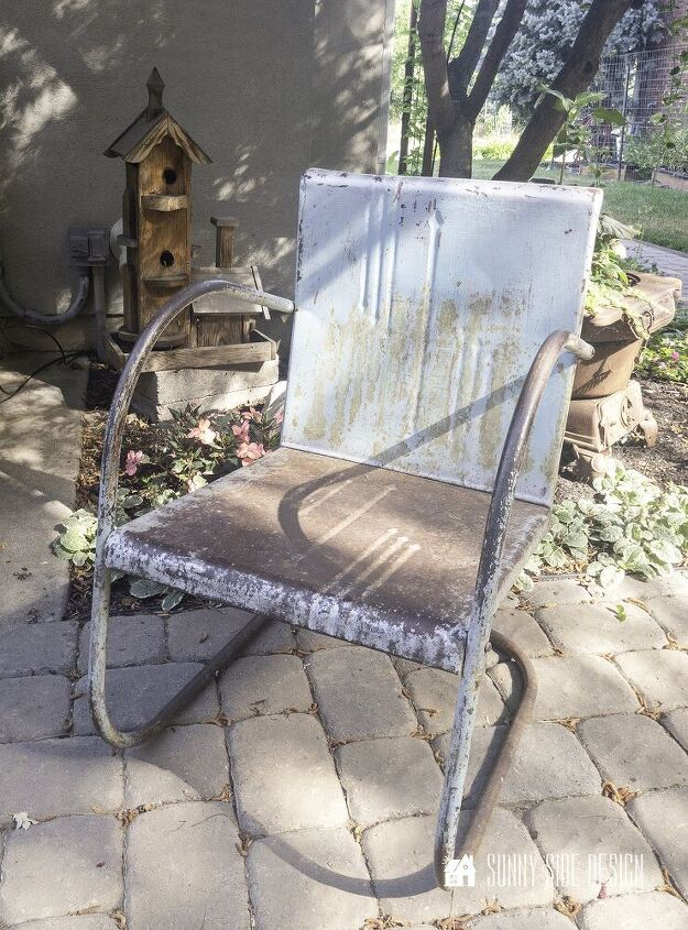 how to fix old rusty metal furniture make it stunning