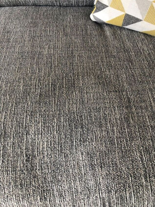 q how do i remove a water stain from a grey fabric sofa