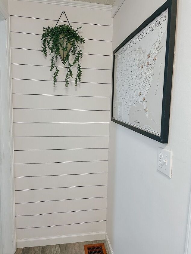 faux shiplap review and how to washi tape