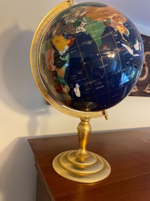 q how do i remove a globe that is stuck to a wood top