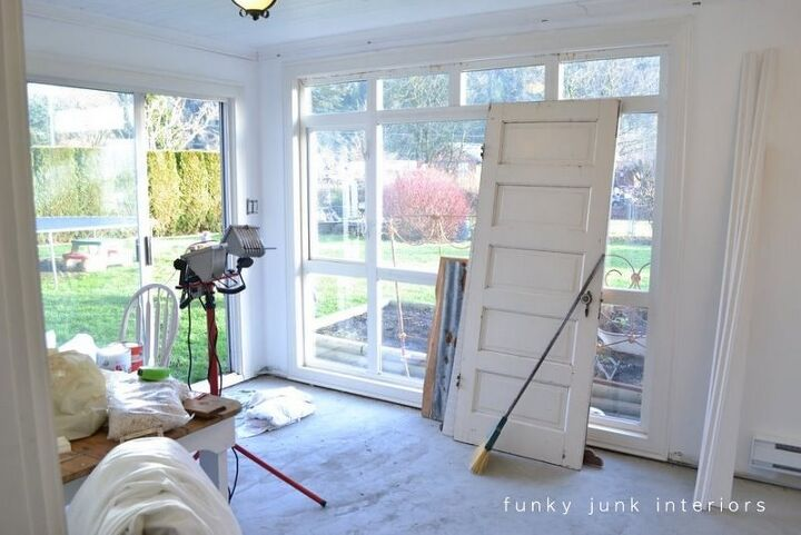 make affordable no sew light and airy sheet curtains in minutes, Before