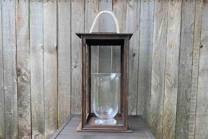 diy wooden lantern no power tools needed