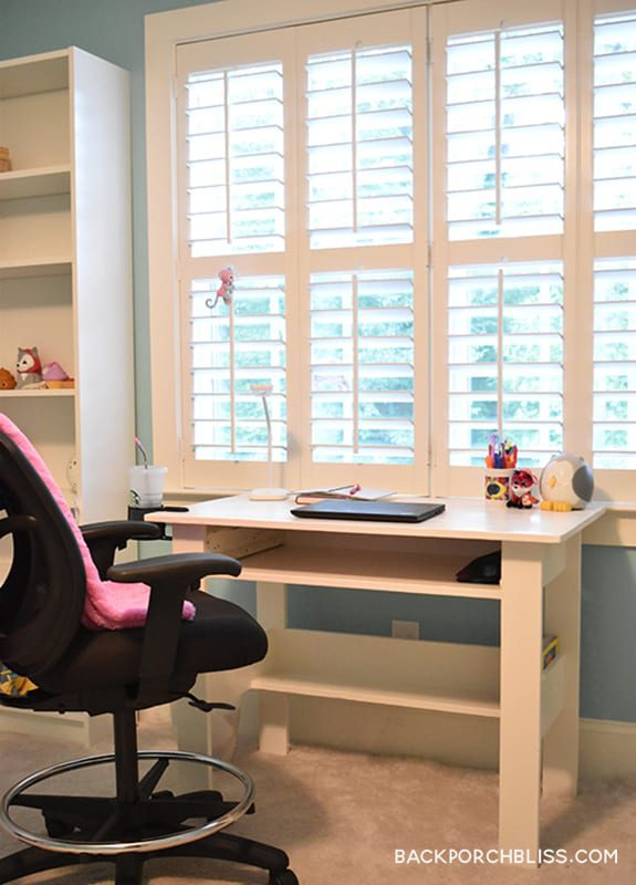 how to make a simple homeschool desk free plans