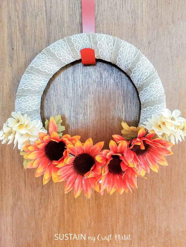 easy diy dollar store wreath for fall