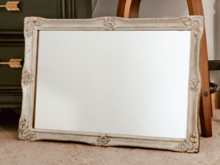 thrifted mirror turned faux antiqued gold beauty