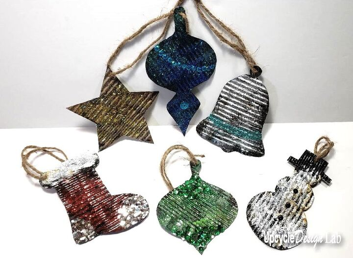 how to make rustic homemade christmas ornaments recycled upcycle
