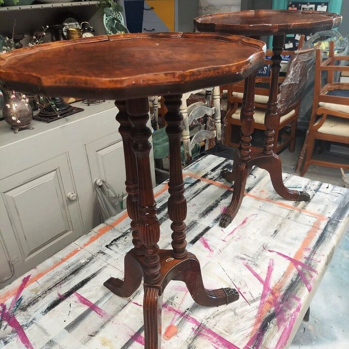 old pie tables get a new look
