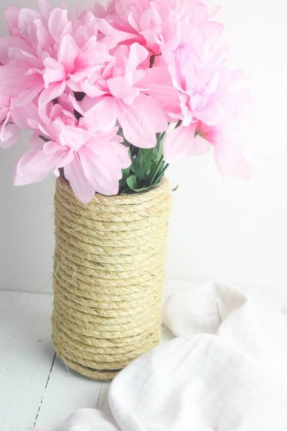 how to make a rope vase