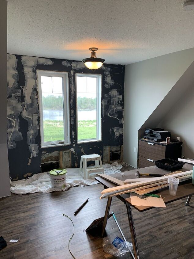 creating a faux concrete wall
