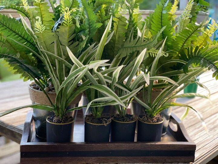 diy faux potted plants