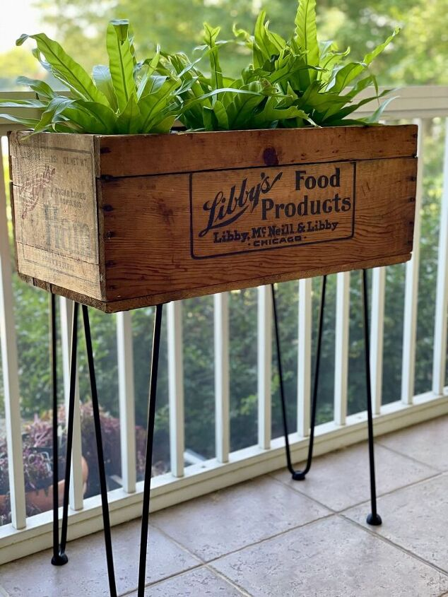 vintage crate to modern plant stand a life unfolding