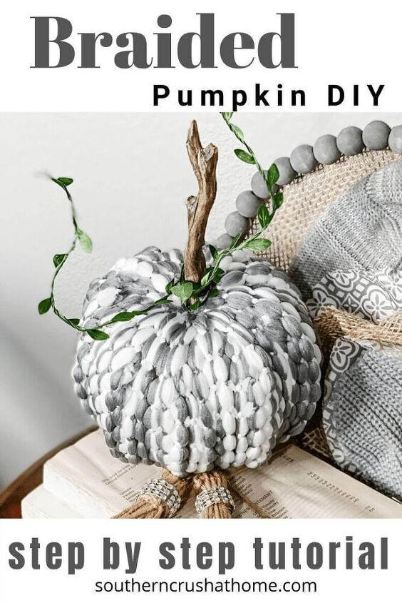 dollar tree braided pumpkin diy using a mop head