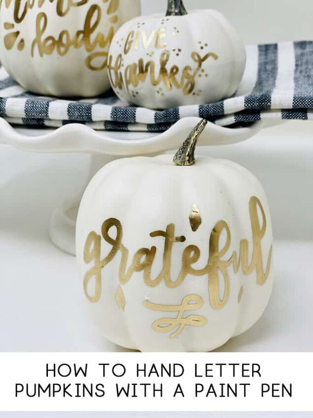 how to hand letter pumpkins with a paint pen