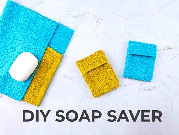 soap saver pouch out of washcloth