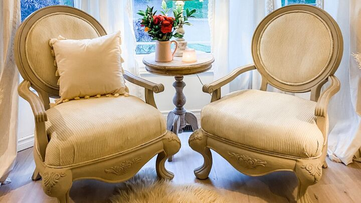 s 17 gorgeous shabby chic decor ideas that ll cost you next to nothing, Paint your furniture instead of reupholstering