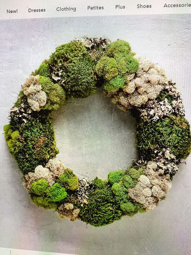 anthropologie dupe moss wreath, Anthropologie Mixed Moss Wreath