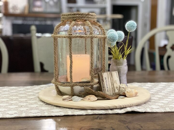 s grab a leftover pickle jar for this expensive looking lantern idea, Glue decorative rope to your glass jar to create a lovely nautical lantern to light up your dining table