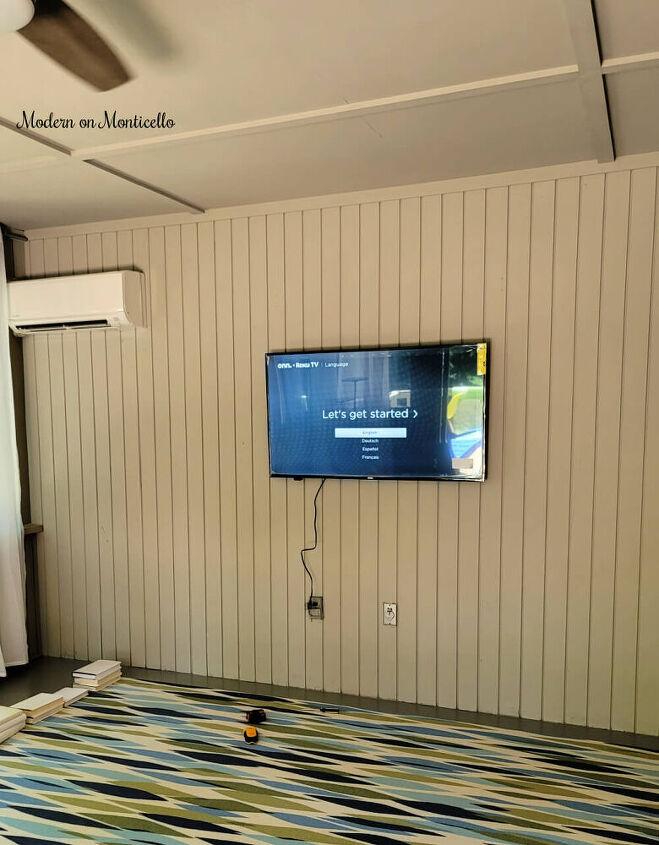 barn door hidden tv cabinet