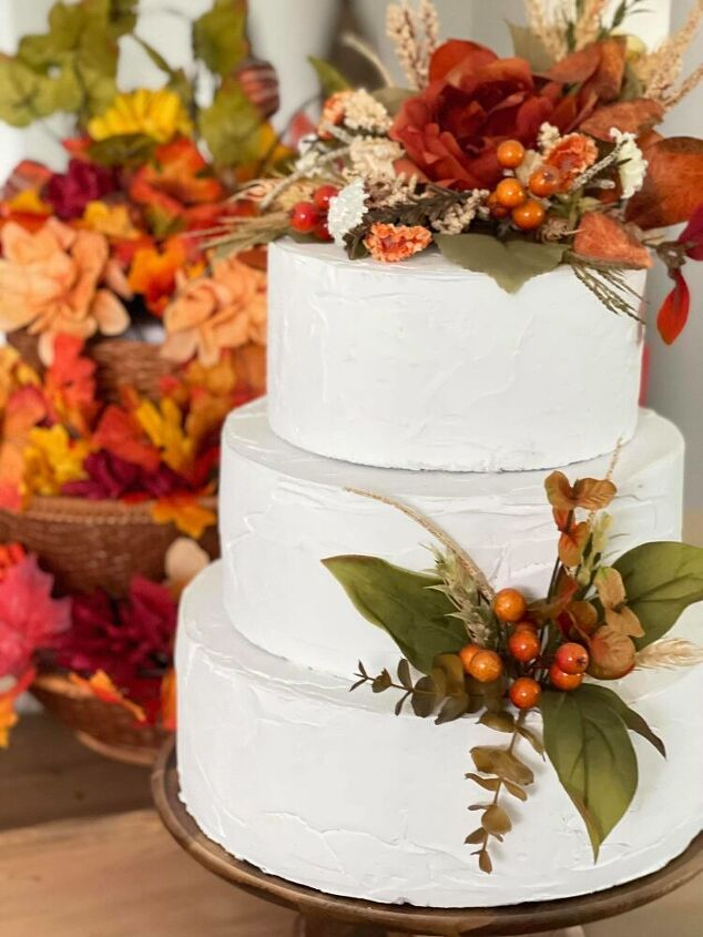 how to make a faux fall cake the curated farmhouse