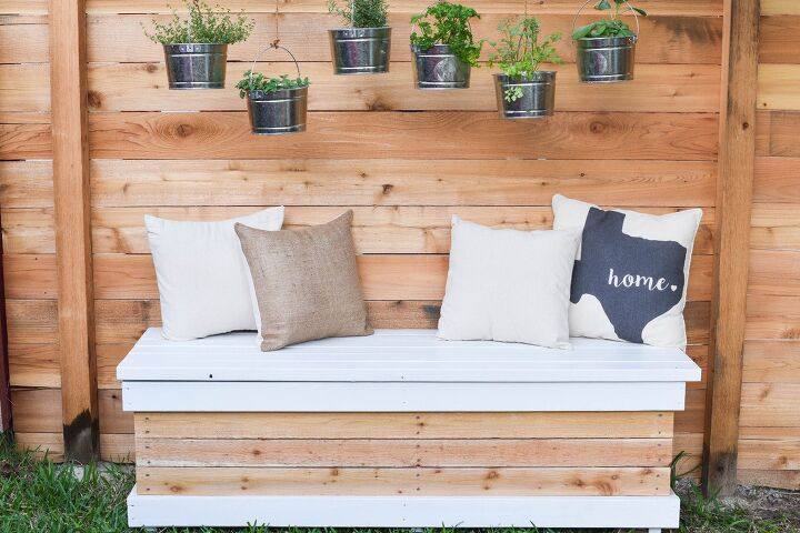 s the top 10 creative ways to add more storage on a budget, A beautiful outdoor bench