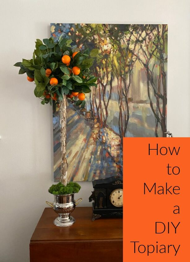 , Did you get to see the cute mini topiary invitation earlier this week Today I am showing you how to make a full size orange topiary Don t miss my next post which will wrap up this citrus celebration
