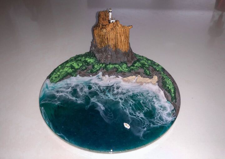 modeling paste seascape sculpture