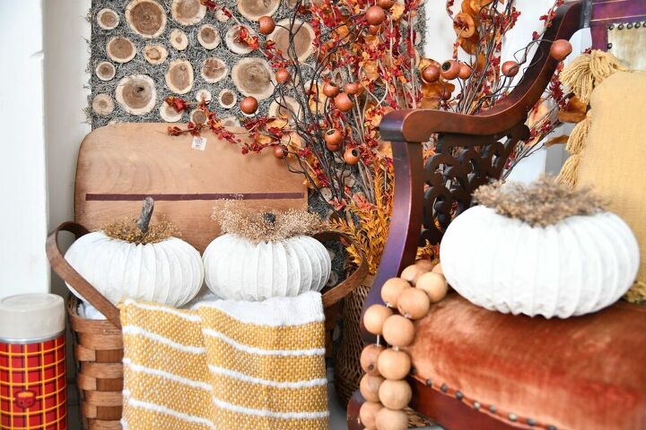 how to make a diy dryer vent pumpkin the curated farmhouse
