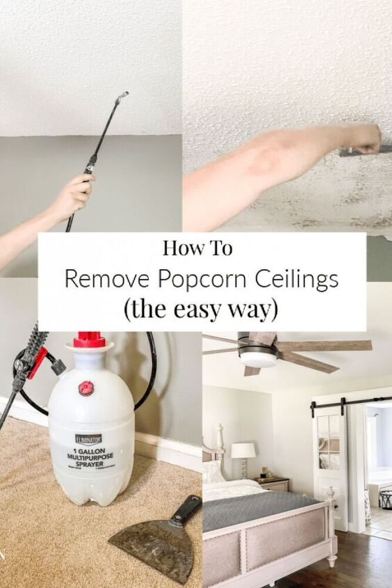 how to remove popcorn ceilings the easy way
