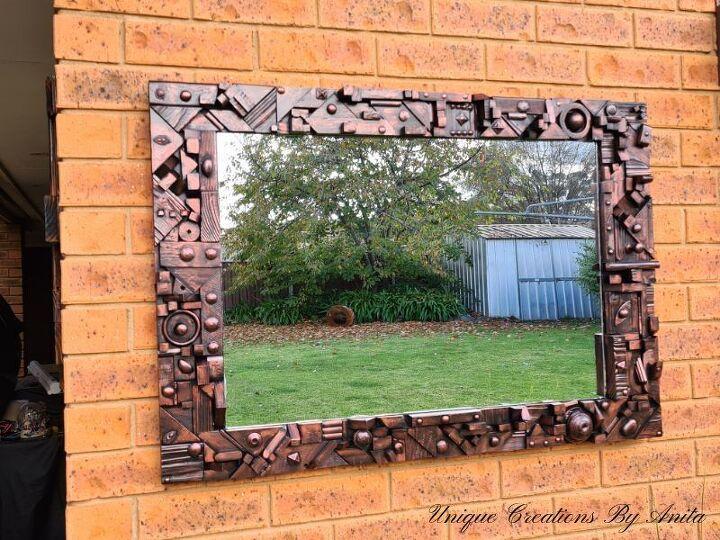 scrap wood mirror