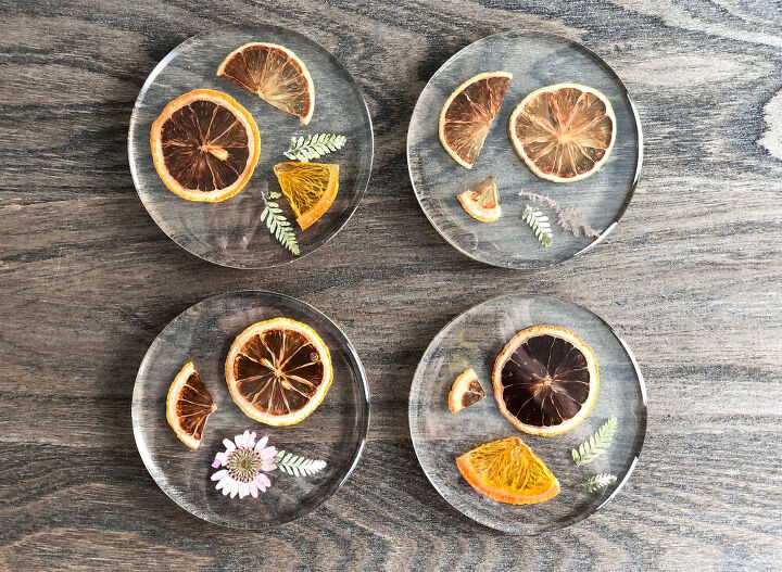 s 15 ways to make your home feel cozier this season, These rustic fruit and flower coasters
