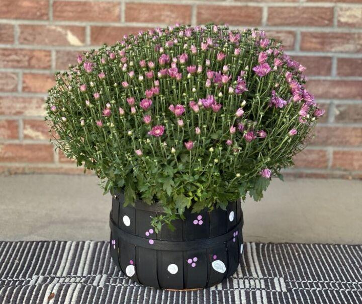 diy painted flower basket