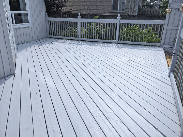 deck refinishing without harming plants, After