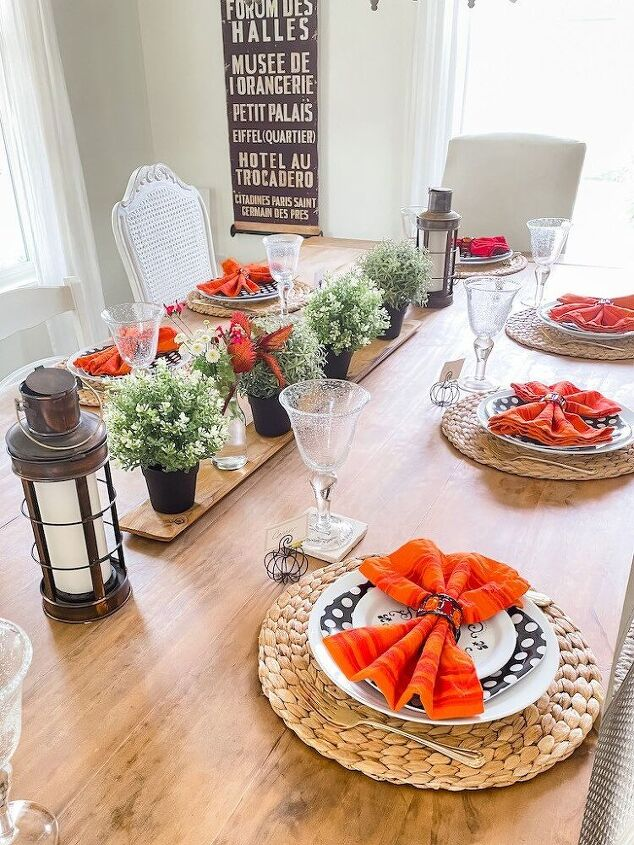how to set an early fall tablescape