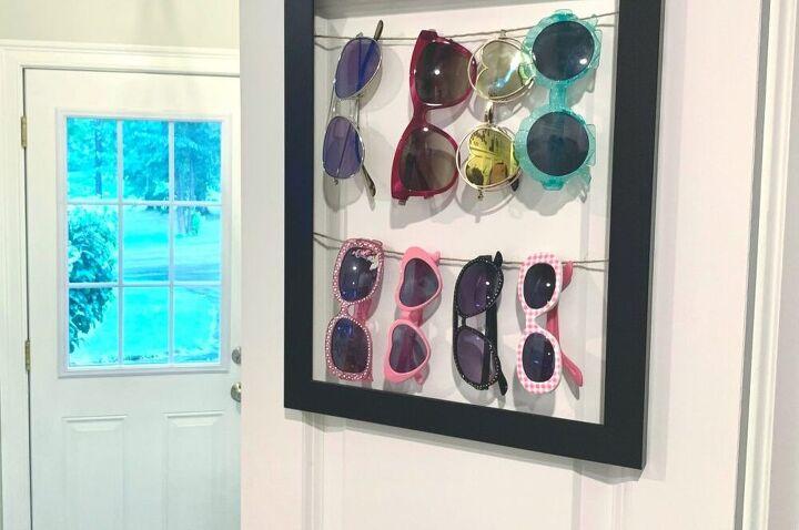 diy sunglasses rack three daughters home