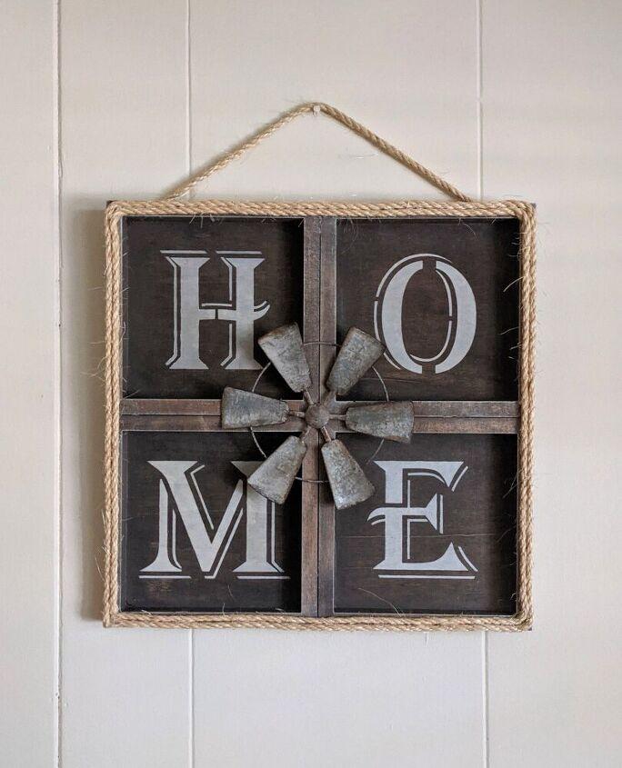 wood farmhouse home sign