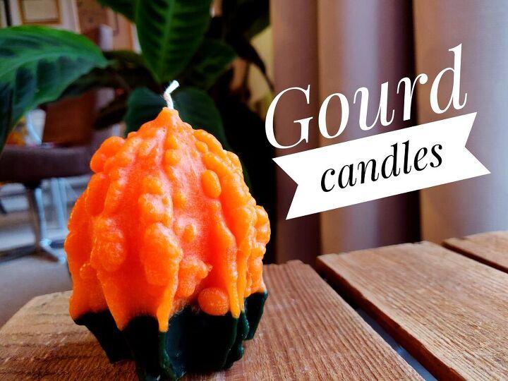 diy gourd candles