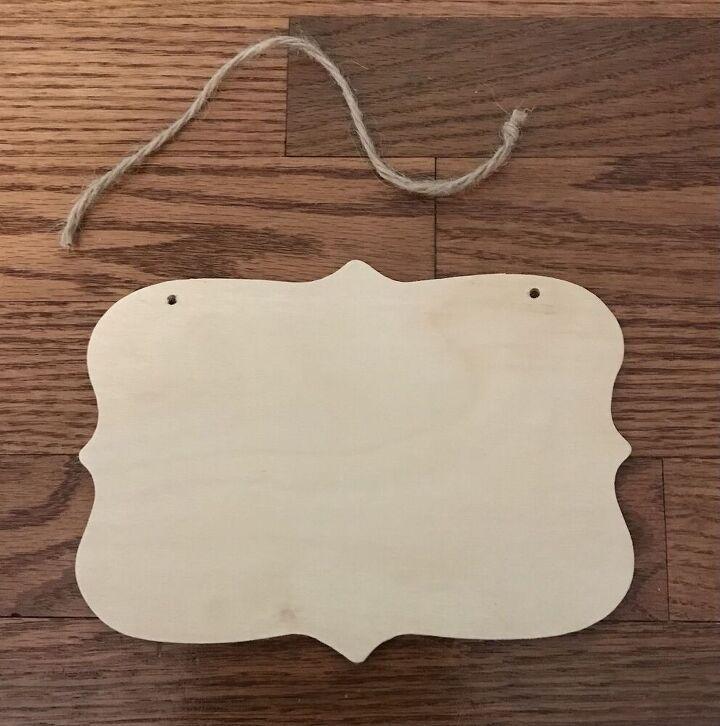 guest bathroom welcome plaque very easy