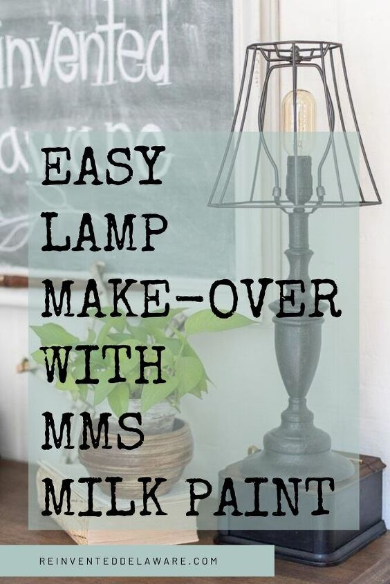 easy lamp makeover with milk paint