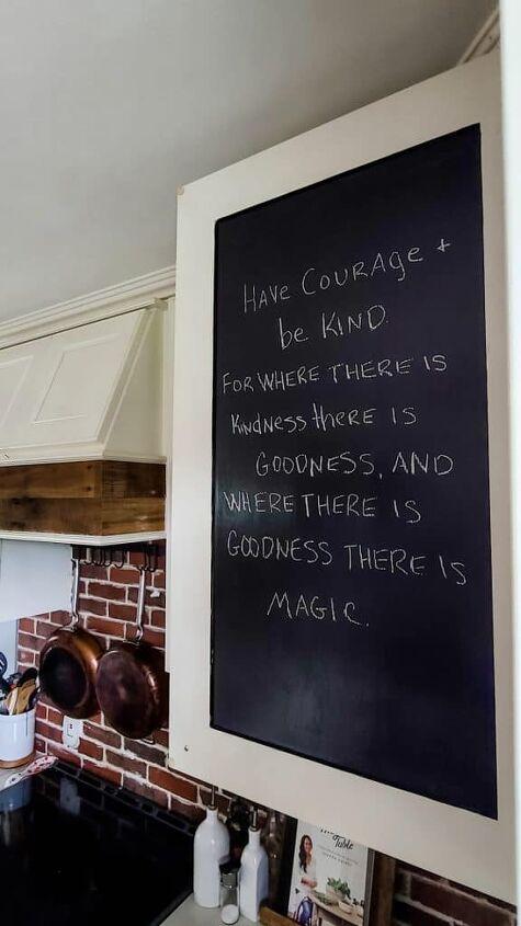 diy kitchen cabinet chalkboard