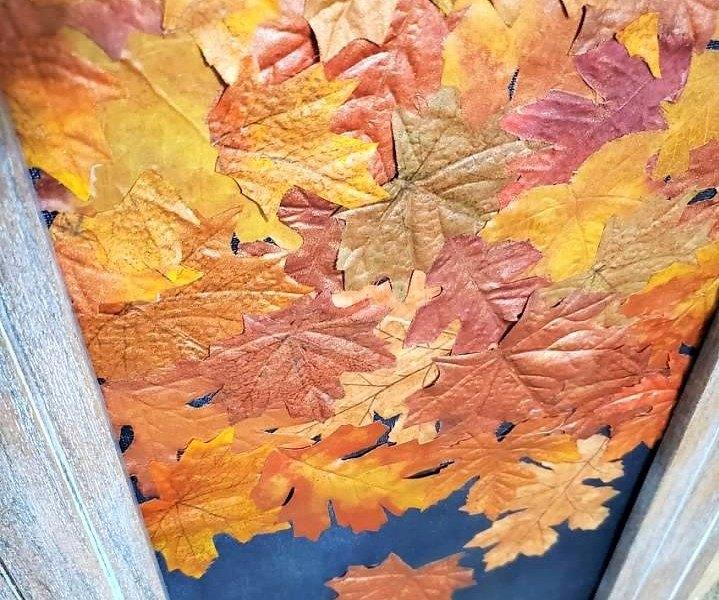 diy leaf canvas